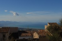 Views of the Tyrrhenian Sea and the coast of Sicily from Gratteri.