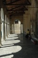 13/44 The shady portico of the Chiesa Madre in Petralia Soprana.