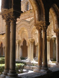 The splendid cloisters of the Duomo di Monreale.
