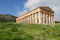 The Temple of Segesta standing proudly.