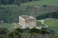 The Temple of Segesta seen from the road to the theatre.
