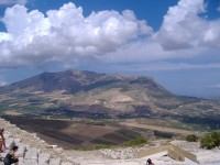 Stunning views from the theatre of Segesta.