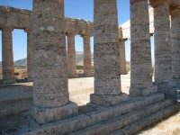 The sturdy columns of the Temple of Segesta.