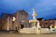 14/41 The fountain in Piazza Duomo at dusk.