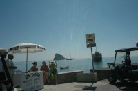 Renting a boat for a day on Panarea.