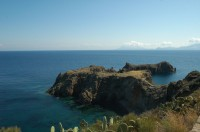 Part of Panarea's dramatic coastline.