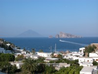 Stunning views of Stromboli from Panarea.