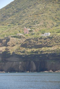 A typical Aeolian church perched above the sea.
