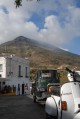 53/67 The dramatic smoking peak of the volcano on Stromboli.