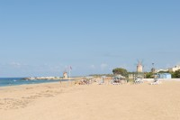 Part of Trapani's long sandy beach.