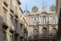 The elaborate facade of Trapani's Town Hall.