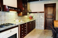 The spacious, well-equipped kitchen.