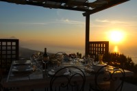 Sunset is a magical time at Casa Nuvola!