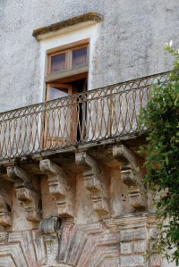 One of the lovely balconies of Villa Elia.