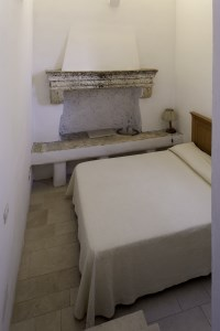 The bedroom in the small tower.
