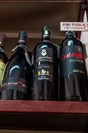 Puglian wines for sale in an 'enoteca' in Lecce.