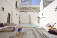 The internal courtyard with its pool!