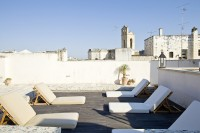 The roof-top solarium with Galatina for a view.