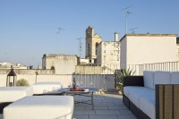 Another shot of the roof terrace with its backdrop of Galatina.