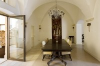 The more formal dining room.