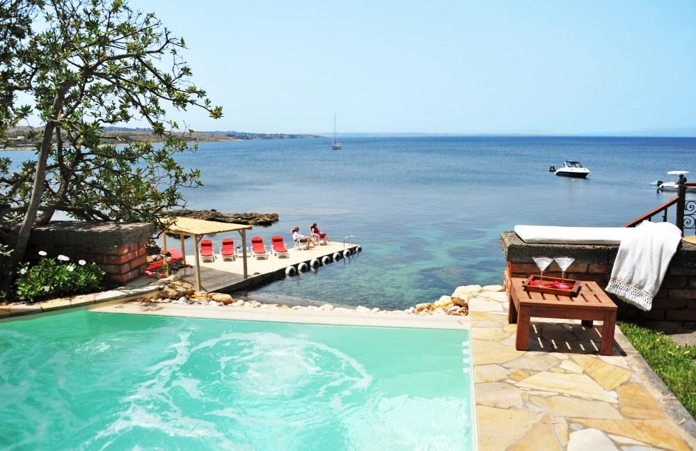 Villas with direct sea access