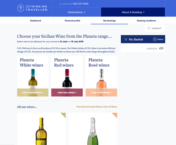 Think Sicily online wine ordering service