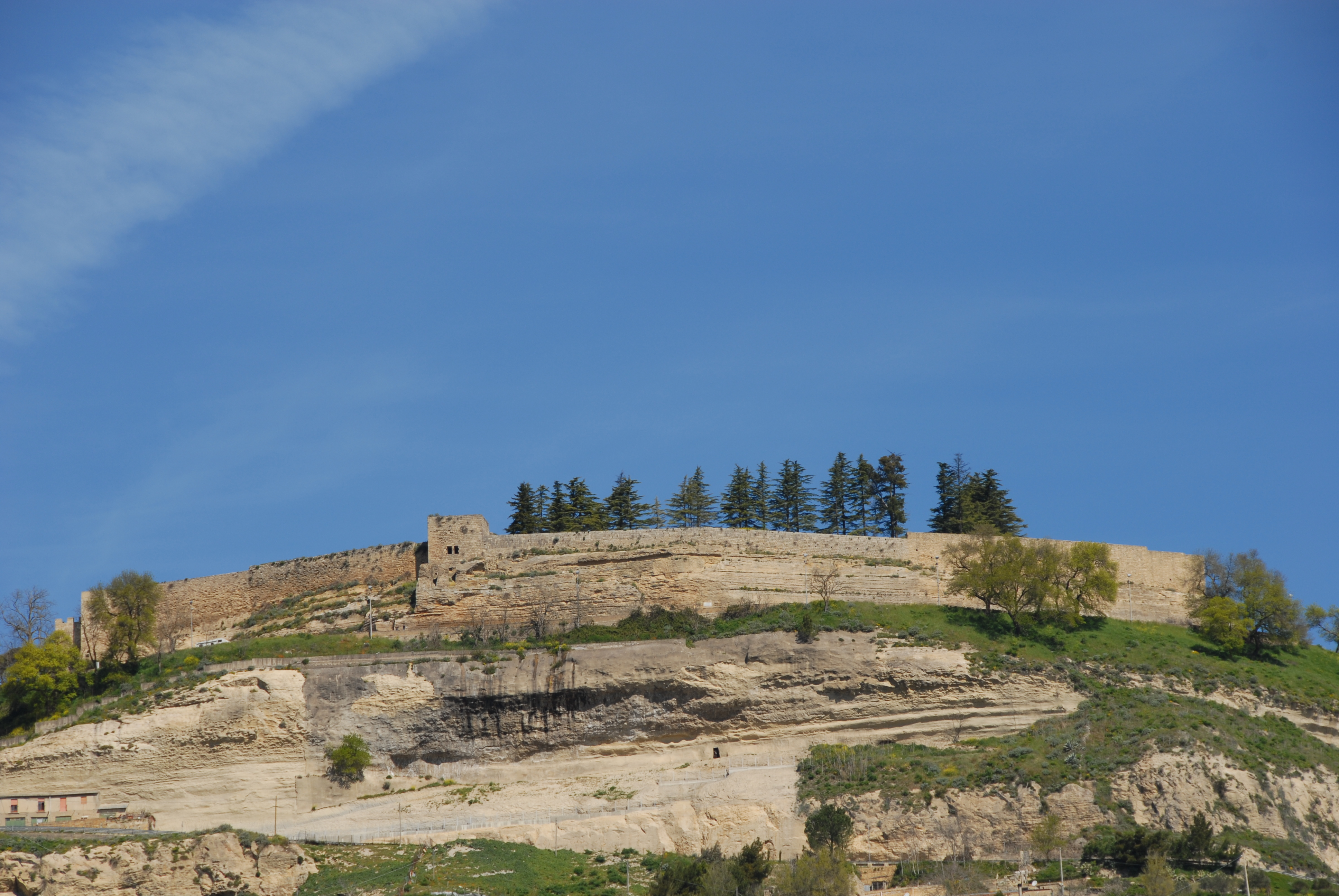 Part of the castle walls at Enna | Sicily