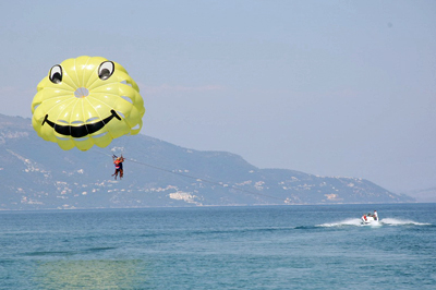 Corfu paragliding | Watersports on Corfu | Think Ionian Islands