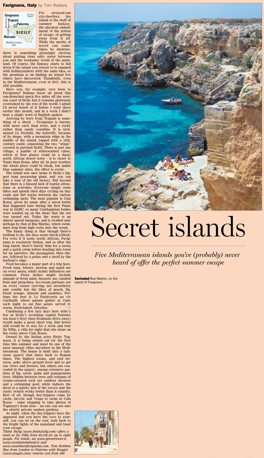 Zu Nillu in the Financial Times, July 2011 | Think Sicily