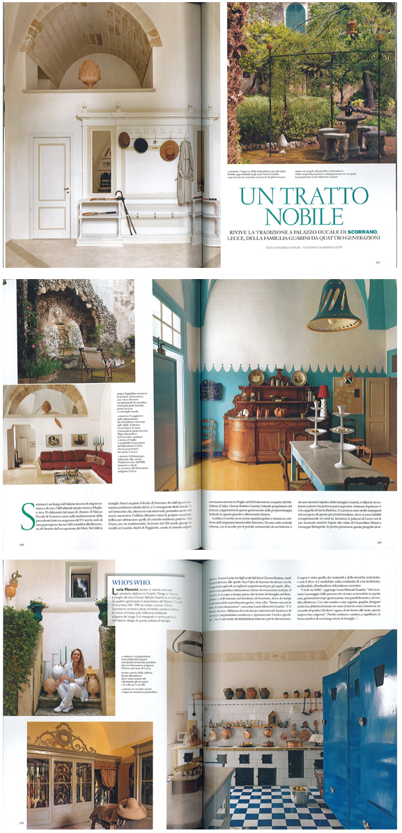 Palazzo Guarini in Architectural Digest, July 2011 | Think Puglia