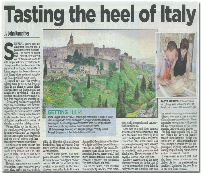 Mail on Sunday, 3rd March 2013 | Think Puglia