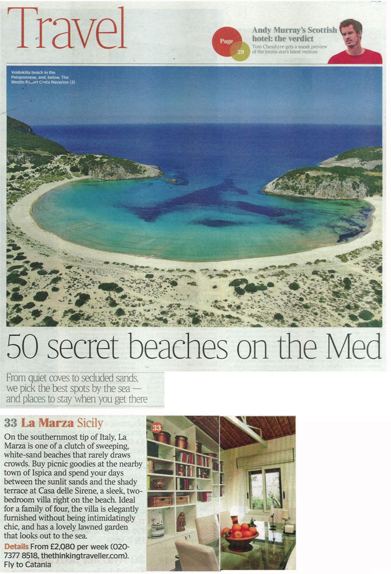 times travel casa delle sirene article
